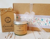 Lavender Gift Set, Skincare Set, Handmade Soap, Skin Salve, Mother's Day Gift