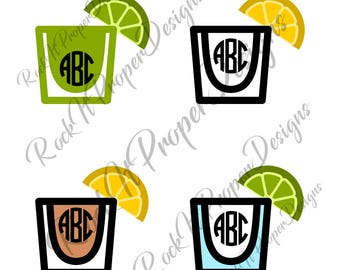 Shot Glass Round Shooter DIGITAL files - scrapbooking, card making, decals, stickers, heat transfer vinyl (htv) and more! SVG and PNG Files.