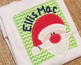 Personalized Santa Appliqué Shirt