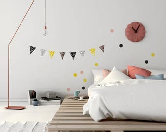 """Do it yourself """"Austral 2"""" paper pennant banner (8 pennants)"""