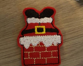 Santa Stuck in the Chimney - Cute Christmas Paper Clip