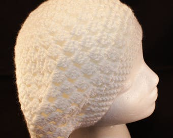 READY TO SHIP White Slouchy Hat