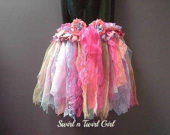 FAIRY SKIRT, flower girl, pink coral purple, fairy costume, fairy tutu, dance costume, birthday party tutu, tattered tutu, 1 2 3 year old