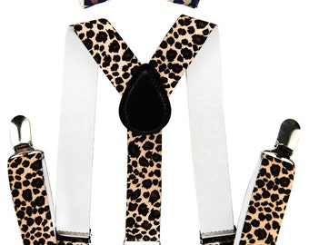 AXY children Leopard look braces + ring fly - groomsmen - bearer outfit photo-shooting - birthday