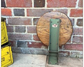 Industrial Vintage Evertaut Flip Wall Factory Machinist Stool