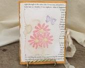 Pink Daisies Handmade Blank Junk Journal