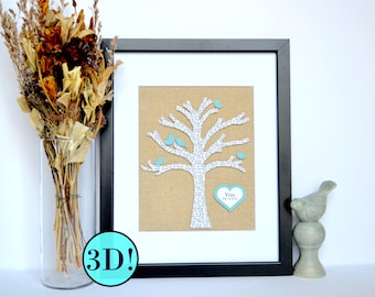 Family Tree  Gift For Her, Gift For Mom, Anniversary Gift For Parents,
