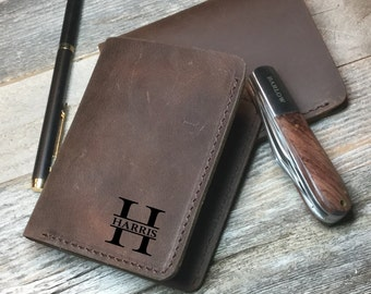 Personalized Cowhide wallet, personalized Wallet, Groomsmen, Personalized cowhide leathe wallet, crazy horse money clip