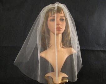 READY TO SHIP - Bridal Veil Blusher - Wedding Veil Blusher - Drop Veil Blusher