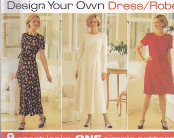 Simplicity 7103 Vintage Pattern Womens Dress in 9 Variations  Size 18,20,22 UNCUT
