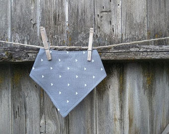 Baby and Toddler Bibdana Bib, Drooler Bib Geometric Grey Triangle