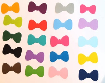 Bow cut outs pick your color and size