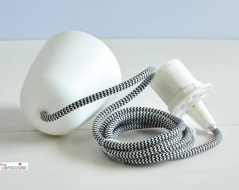 Lamp suspension with textile cable