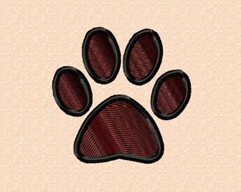 Paw 50mm - embroidery
