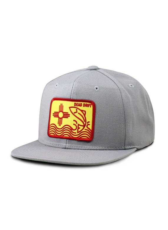 Fly fishing hat new mexico flat bill snapback trout fly for Fishing flat bill hats