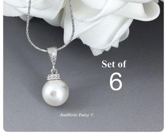 Set of 6 Swarovski Necklace Bridesmaid Gifts Bridesmaid Jewelry Gift for Her Necklace Jewelry Wedding Jewelry Gift for Her Bridesmaid Gift