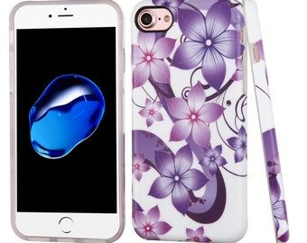 Purple Flower iPhone 7 / 8 TPU Gel Design Case