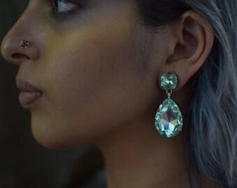 Swarovski 'mint' earrings