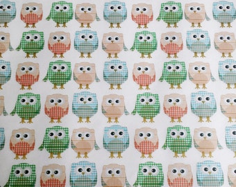 Owls - Wrapping Paper/Gold Embossed/Sheet Style/Cute/Pretty/Unique/Kawaii/Holiday/Fancy/Wedding/Gift Wrap/Fun/Elegant/Occasion