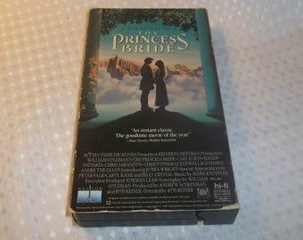 The PRINCESS BRIDE VHS Video Cassette Fairy Tale Romantic Comedy