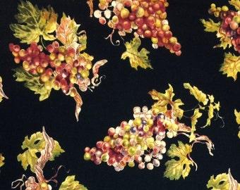 Timeless Treasures WINE TASTING GRAPES 100% Premium Quality Cotton Quilt Fabric-Per 1/2 yd