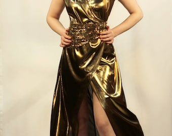 Gold Metalic Dress