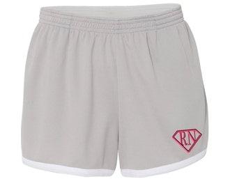 Monogram RN Super Nurse Womens Shorts. Boxercraft - Women's Fast Break Mesh Short -SS: M66