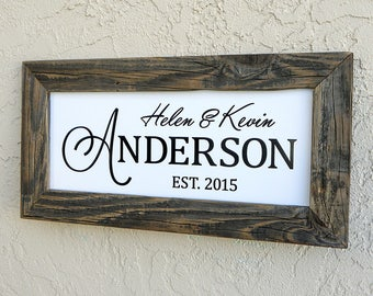 Custom Wedding Signs. Custom Family Name Sign. Custom Sign. Established Family Name Sign. Rustic Signs. Wedding Sign. 20x10