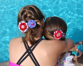 4th of July yo-yo Hair Clips Barrettes for your Patriotic Party Favors or Gifts for Friends Suitable for Any Age