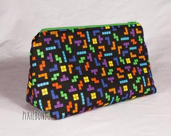 Tetris Cosmetic Bag - Ready to Ship!