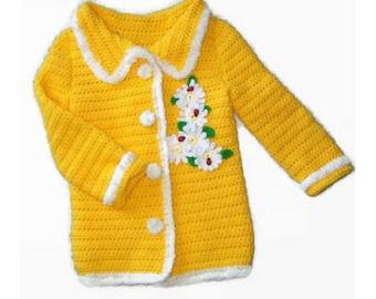 Crochet girls summer pattern, Girls sweater pattern