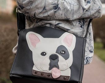 Messenger bag with frenchie