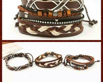 3 in one gender neutral adjustable bracelet set