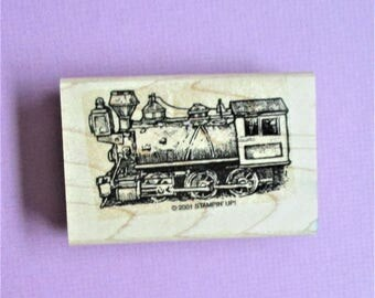 Train Steam Engine Vintage Image Papercraft Rubber Stamp Wood Block Mounted Stamp Scrapbooking Card Making DIY Party Invitation Craft Supply