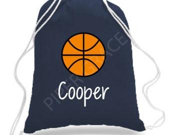 Basketball Drawstring Bag, Basketball Bag, Basketball Backpack, Basketball Coach Gift Ideas, Basketball Gift Ideas, Basketball Gifts