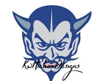 Devil Logo Svg, Dxf Cutting File, Instant Download