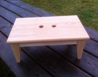 Cherry and Maple Step Stool Very Sturdy