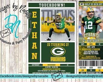 Green Bay Packers Football Invitation