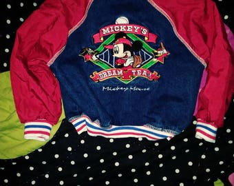 SALE SALE SALE!3t Vintage Mickey Mouse denim and nylon jacket / coat from the disney
