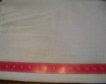 Destash- Very sheer Pastel Plaid Vintage Fabric