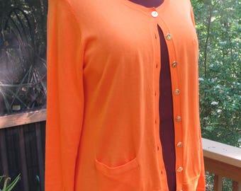 Ralph Lauren Summer Orange Cotton Cardigan
