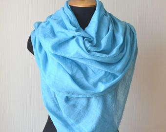 Womens gift|for|women cotton scarf christmas gifs|for|her blue scarf mom gift womens scarf wrap Pashmina scarf summer scarf beach scarf