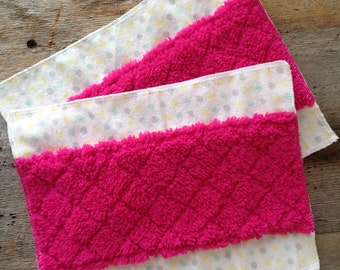 Reusable Swiffer Dry Sweeping Pads- Pack of 2-Eco Friendly- Flannel- Minky- Duster- Dry Mopping