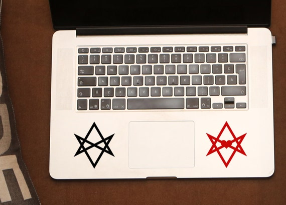 Unicursal Hexagram Occult Stickers Abbey Of Thelema Pagan