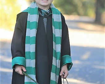 """Harry Potter House of Slytherin, Hogwarts school of  Wizardry, """"ancient magic"""" in SZ 2T to 14. Toddlers to Teens"""