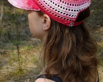 Womens Baseball Caps Womens Baseball hats Trucker hat Crochet cap Lace cap Summer cap Womens sport gift idea Girlfriend Gift for her