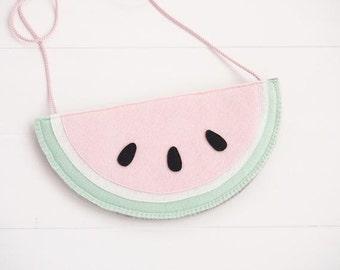 Watermelon kids purse with strap