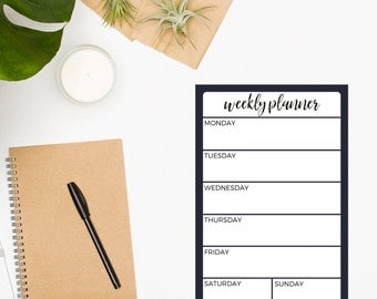 Weekly Planner Notepad • To Do List • Purple Notepad • Weekly Notepad • Daily Planner • Organization Notepad • Productivity