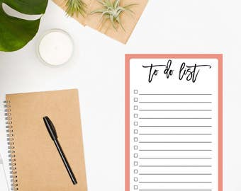 To Do List Notepad • Coral Notepad• Planner Notepad • Daily Planner • Daily Planner Notepad • Organization • Productivity