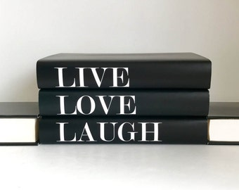 Live Love Laugh Books, Decorative Book Set, Fashion Designer, Fashion Design, Fashion Books, Coffee Table Books, Decorative Books, Book Gift